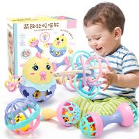婴儿玩具0-1岁抓握可啃咬手摇铃宝宝软胶男孩女孩儿童小孩