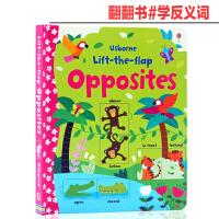 Lift The Flap 系列Opposites 学反义词 英文原版绘本 翻翻书 亲子读物 纸板书幼儿英文启蒙早教3