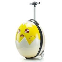 蛋壳箱卡通行李箱可爱宝宝登机箱儿童拉杆箱旅行箱包16寸男女 16寸 蛋壳拉杆箱 发光轮