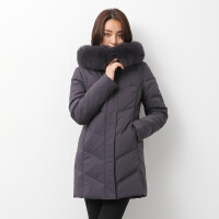 【一件三折 到手价:629.7】yaloo/雅鹿狐狸毛领款冬羽绒服女式 中长款 修身显瘦