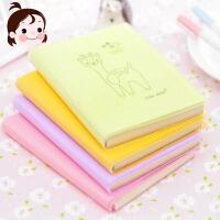 笔记本随身小学生日记本 韩国创意文具批发记事本胶套本便携本子
