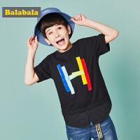 【每满200减100】巴拉巴拉童装男童中大童短袖T恤夏装2018新款儿童假两件上衣体恤