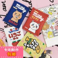 韩国ulzzang原宿可爱牛奶零食PU皮零钱包小包硬币包卡包时尚钱包