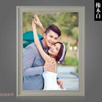美式复古相框挂墙照片框16 18 24 30 36寸婚纱照片相框拼图框画框