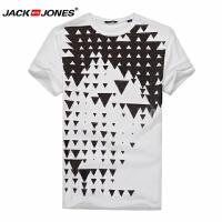 杰克琼斯/JackJones时尚百搭新款T恤 黑白三角1-2-3-215201024023