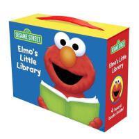 Elmo's Little Library (Sesame Street) 英文原版 芝麻街:阿莫的小图书馆四本合集