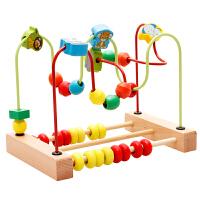 儿童绕珠串珠6一12个月男孩女宝宝玩具积木0-1-2周岁-3岁
