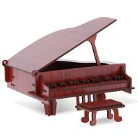 3D儿童乐器积木质立体拼图创意手工制作钢琴模型生日礼物玩具