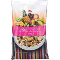 瑞典ICA麦片45%水果坚果什锦粗粮混合麦片750g进口早餐即食麦片
