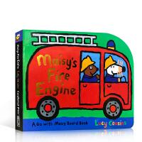英文原版绘本Maisy's Fire Engine小鼠波波 纸板造型 低幼儿童 启蒙 火灾救援消防车 纸板书 作者 L