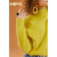 【2件5折】妖精的口袋Y宽松短款套头毛衣女冬装2018新款长袖半高领针织衫潮