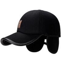 帽子男士冬季棒球帽爸爸帽中老年帽子爷爷老头老人帽护耳