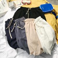 男士亚麻棉麻短裤男裤子夏季宽松运动五分裤学生休闲裤潮流沙滩裤
