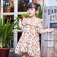 【限时2件4折】迷你巴拉巴拉女童纯棉连衣裙2019春装新款儿童宝宝碎花裙宽松裙子