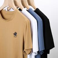 伯克龙 男士长袖T恤高领纯棉 纯色男装青中年休闲韩版修身新款修身春秋季A8879