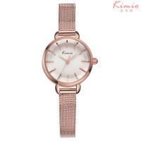 艾奇(EYKI)金米欧新款石英手表精钢表带简约三针设计时尚女士手表 6020