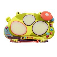 美国B.Toys 饶舌蛙电子鼓 发光音乐鼓 青蛙打击乐器宝宝玩具
