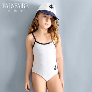 范德安儿童泳衣 2016女童大中童运动连体专业游泳衣防晒品牌泳装