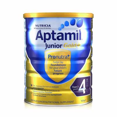 Aptamil 新西兰原装进口 爱他美 奶粉金装 4段 2岁以上 900g 2罐装 正品保障保税仓发货 原料天然,无蔗糖,口感清淡,宝宝爱喝