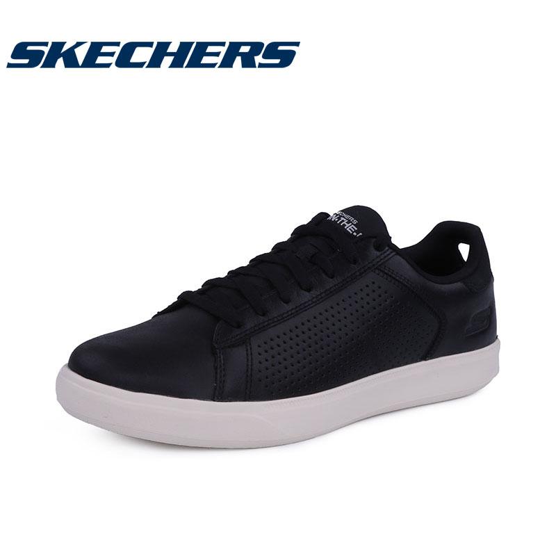 【满减商品】Skechers斯凯奇男鞋板鞋真皮系带质感舒适时尚 54323