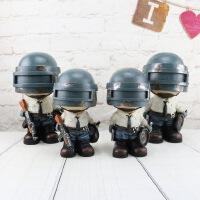 家居摆件军事模型摆设游戏存钱罐摇头装饰品