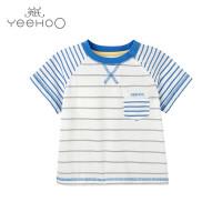 【秒杀】英氏男童短袖T恤儿童纯棉t恤夏季 162231
