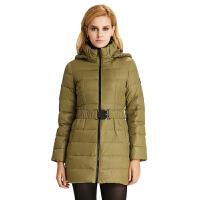 雅鹿女士中长款羽绒服 可脱卸帽潮外套修身简约冬装羽绒衣YN20880