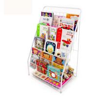 置物架落地报刊架展示架6层 儿童书架铁艺杂志架绘本架书报