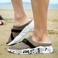 拖鞋男士夏季洞洞鞋沙滩鞋凉鞋大码鸟巢透气韩版潮流防滑凉鞋男