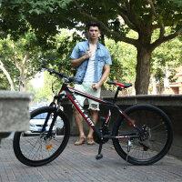 耐嘛26寸【铝合金】双碟刹21速减震山地自行车男女款