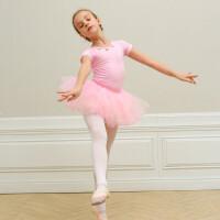 新款芭蕾舞练功服儿童舞蹈服春夏连体服体操中国舞考级女孩跳舞裙