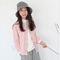 女童牛仔外套冬季新品童装新款中大童儿童休闲上衣开衫上装