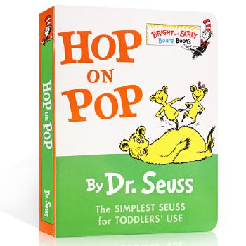 Hop on Pop Dr. Seuss 英文原版绘本【纸板书】 蹦来跳去 廖彩杏书单 苏斯博士 Go,dog.go学校推荐同款 低幼启蒙阅读英语低幼适龄版