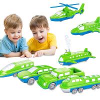 海陆空拼装玩具积木磁铁磁力汽车儿童1-2-3-4-6周岁男孩