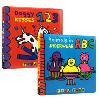 【全店300减100】英文原版 名家Todd Parr 2本套装 Animals in Underwear ABC Do