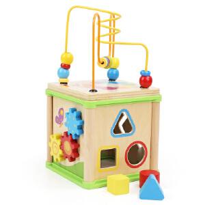 [当当自营]TOPBRIGHT 特宝儿四面铁线 形状认知 多功能百宝箱儿童玩具120140