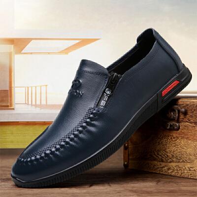 宜驰 EGCHI 休闲鞋男鞋子商务休闲皮鞋平板鞋 2627
