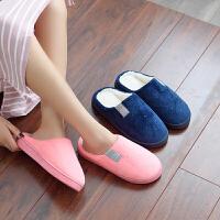 情侣款简约日式珊瑚绒保暖防滑棉拖鞋居家男女室内外可穿棉拖鞋