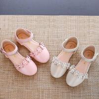 夏季新款童鞋公主女童鞋包头半凉鞋女孩皮鞋潮
