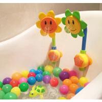 宝宝洗澡玩具男孩向日葵花洒喷水电动儿童花洒女孩婴儿戏水玩具
