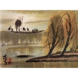 林风眠《渔歌80011》著名画家