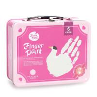 西班牙美乐Joan Miro 儿童手指画手提盒套装颜料工具套装无毒水洗