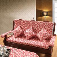 定做加厚海绵实木沙发座垫带靠背中式防滑冬季联绑椅子沙发坐垫
