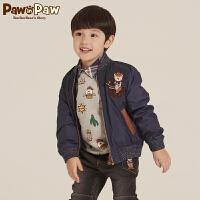 【2件2.5折 到手价:239】Pawinpaw宝英宝卡通小熊童装秋季款男童夹克