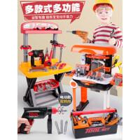 过家家儿童工具箱玩具套装螺丝刀仿真维修理台可收纳男孩宝宝电钻