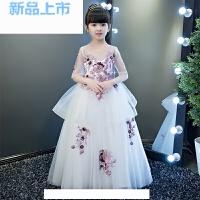 礼服公主裙女童婚纱裙蓬蓬裙模特走秀小主持人钢琴演出服大童