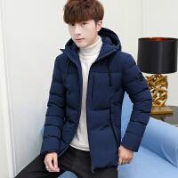 男士2019新款冬季韩版潮流加厚棉服休闲时尚百搭连帽外套保暖棉衣