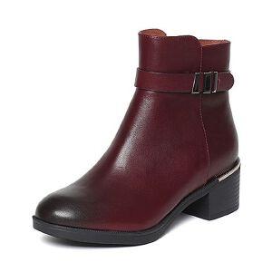 【百丽集团夏季大促,5.28准时开抢】Belle/百丽冬专柜同款油皮牛皮女短靴BJH43DD6