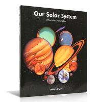 英国进口 科普折叠长卷 洞洞折叠书 太阳系 两米看遍万里星辰 Our Solar System 我们的太阳系 平装绘本