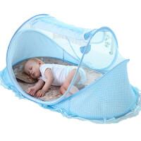 婴儿蚊帐罩宝宝蒙古包免安装可折叠支架有底婴童床蚊帐罩0-3岁